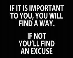 Important No Excuses