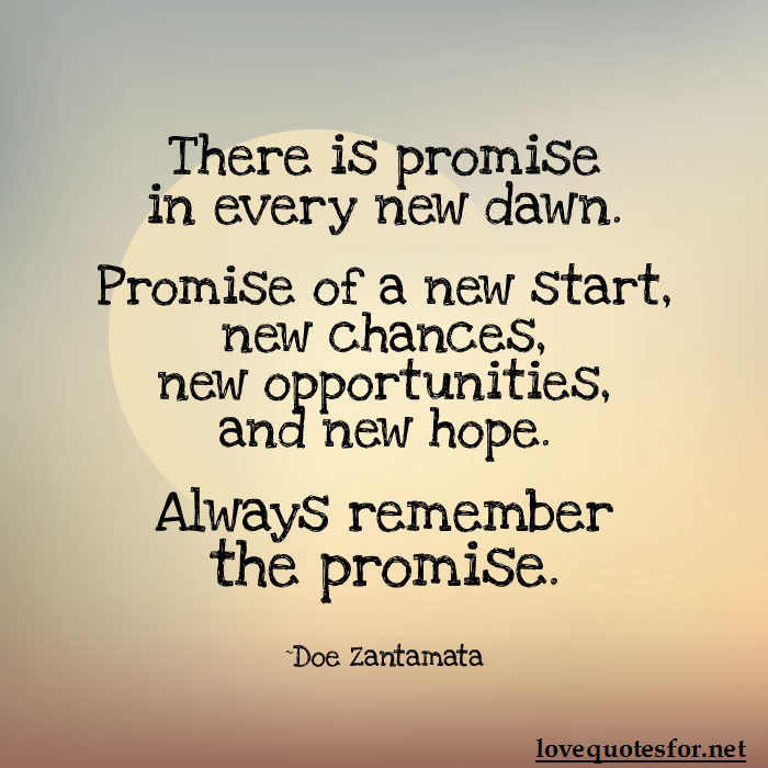 A New Day Promise