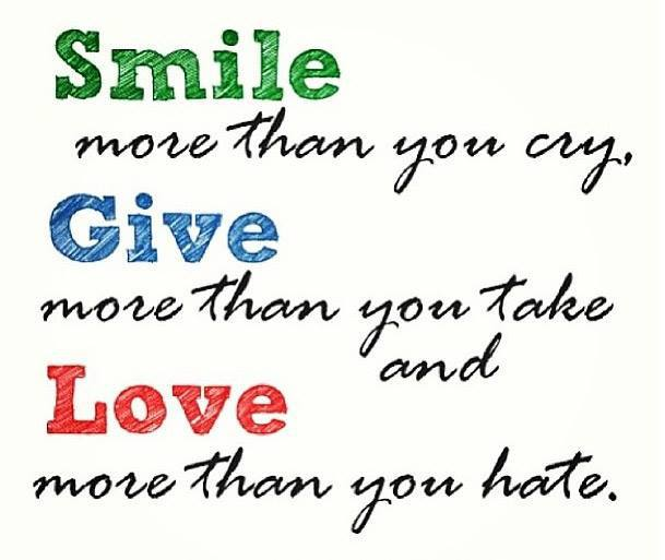 Smile Give and Love