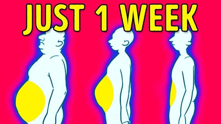 4 Steps to Lose Belly Fat in 1Week